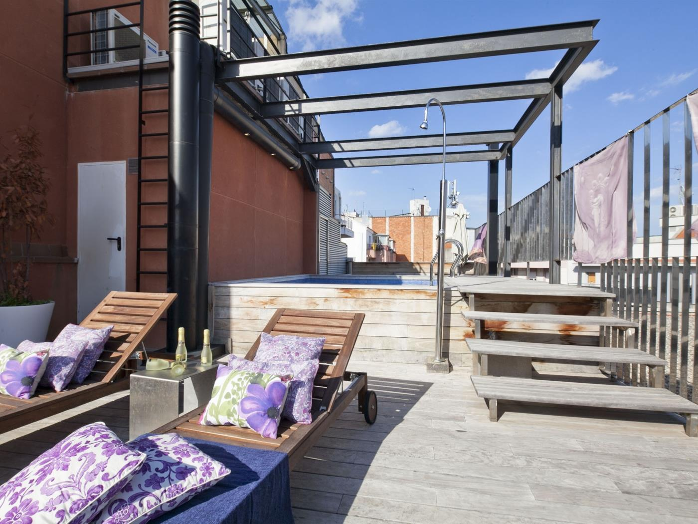 Rooftop pool Apartment in Barcelona Center - My Space Barcelona Mieszkanie
