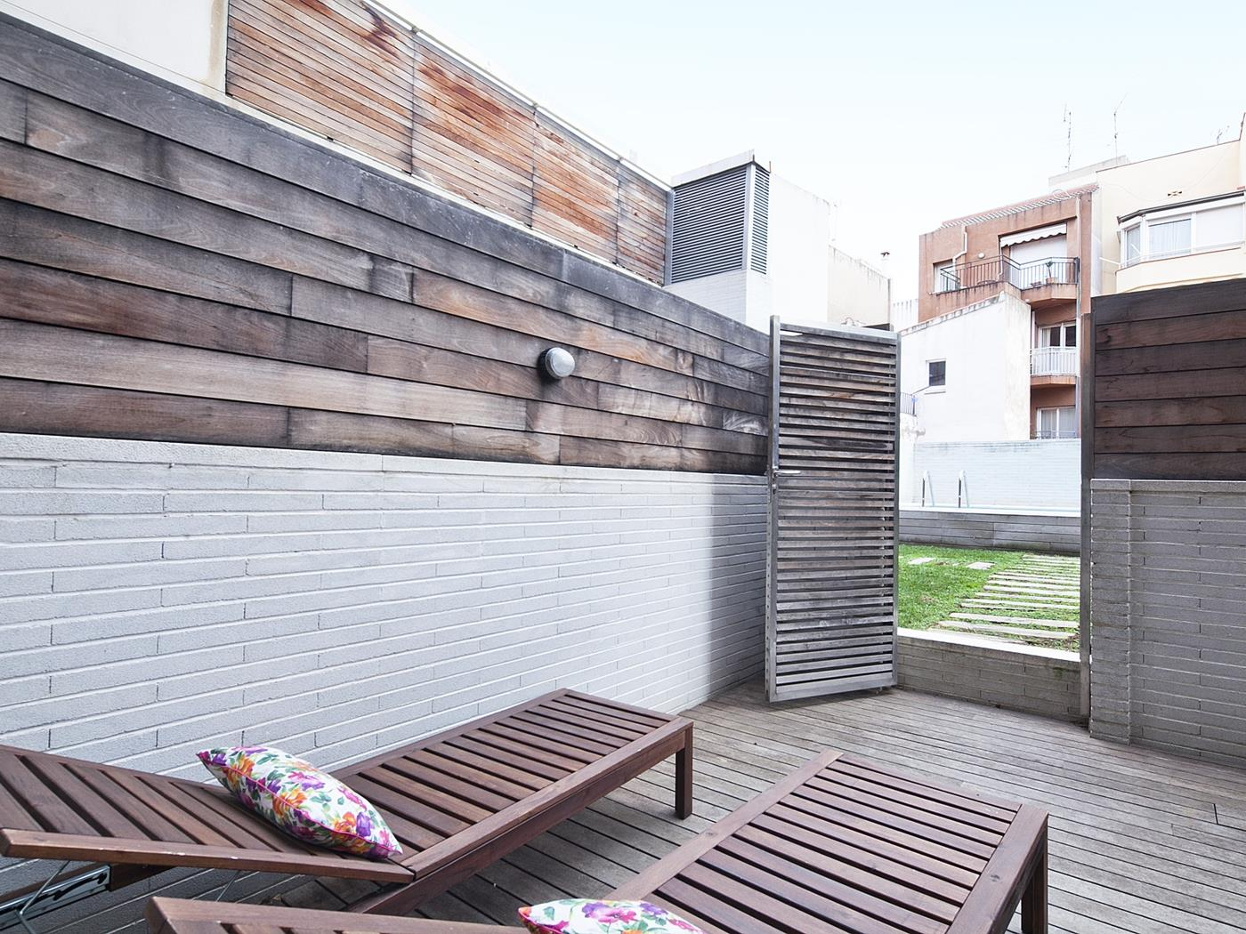 Terrace and Swimming Pool near Barcelona Center - My Space Barcelona Mieszkanie
